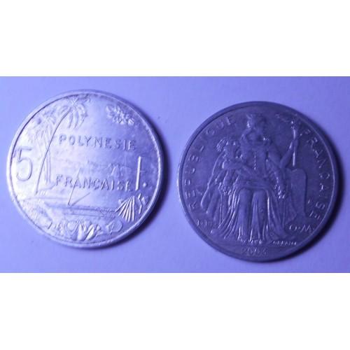 FRENCH POLYNESIA 5 Francs 2003