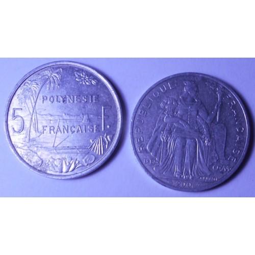 FRENCH POLYNESIA 5 Francs 2001
