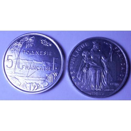FRENCH POLYNESIA 5 Francs 1984