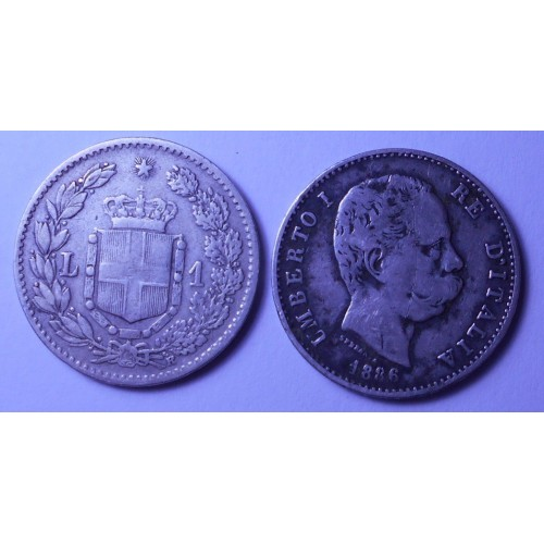 1 Lira 1886 AG