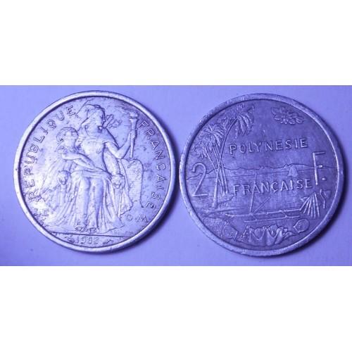 FRENCH POLYNESIA 2 Francs 1983