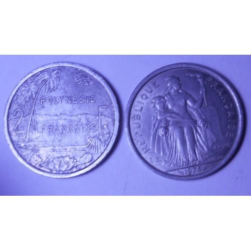 FRENCH POLYNESIA 2 Francs 1975