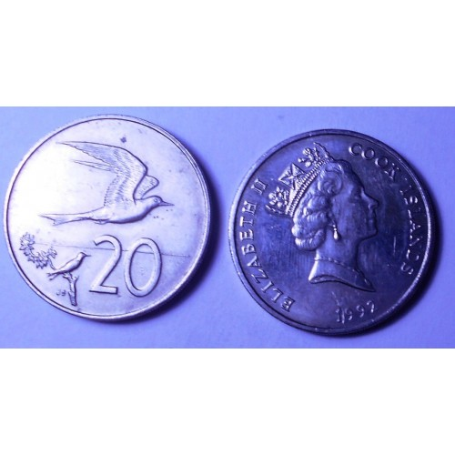 COOK ISLANDS 20 Cents 1992