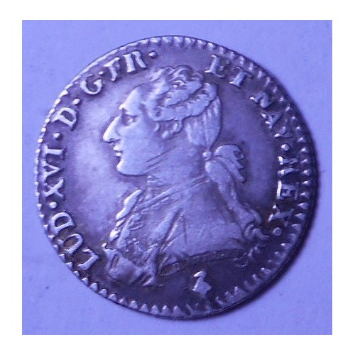 FRANCE 1/10 Ecu 1783A Louis...