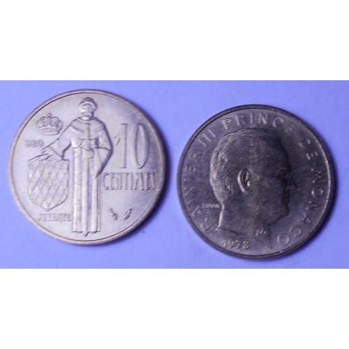 MONACO 10 Centimes 1978
