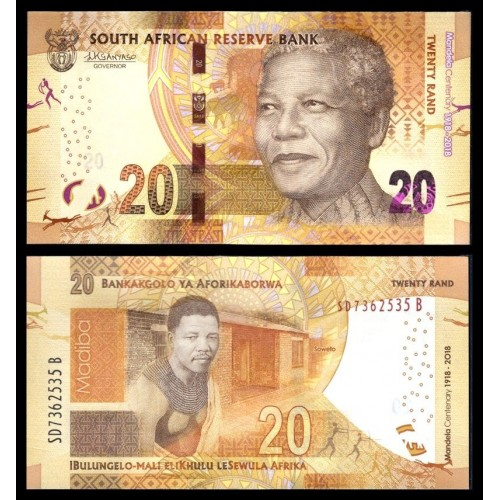 SOUTH AFRICA 20 Rand 2018...