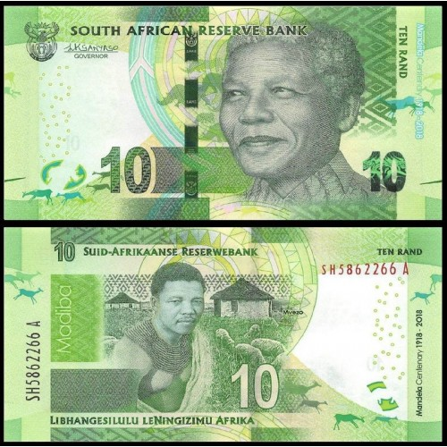 SOUTH AFRICA 10 Rand 2018...
