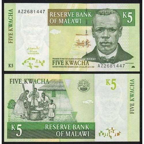 MALAWI 5 Kwacha 2004