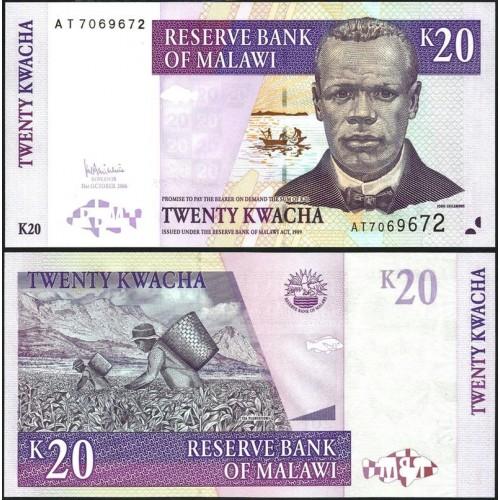 MALAWI 20 Kwacha 2006