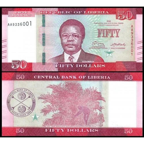 LIBERIA 50 Dollars 2016