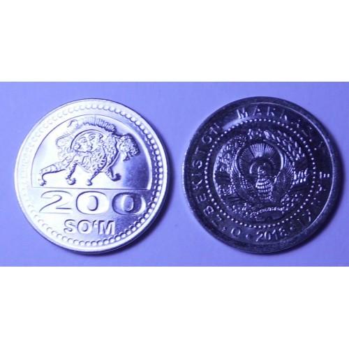 UZBEKISTAN 200 Som 2018