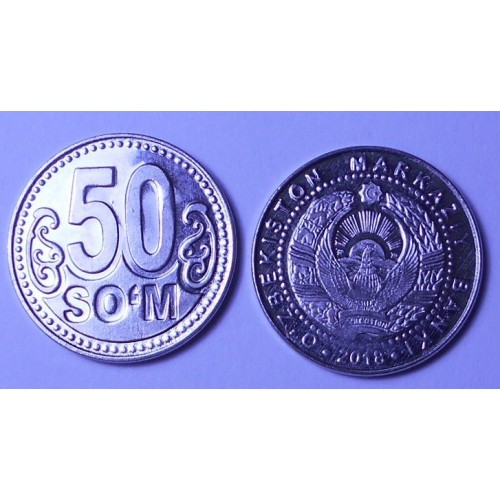 UZBEKISTAN 50 Som 2018