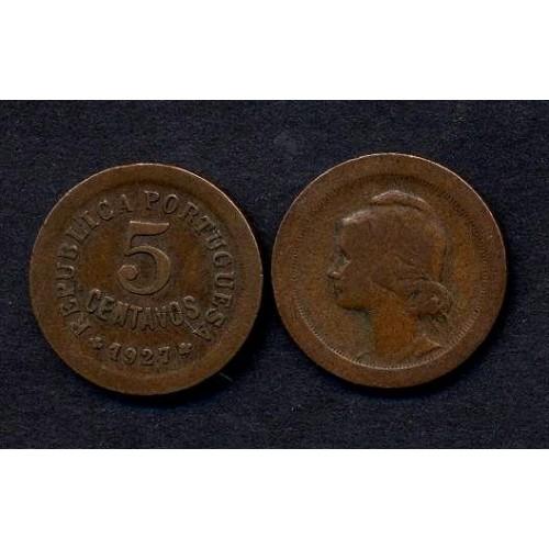 PORTUGAL 5 Centavos 1927