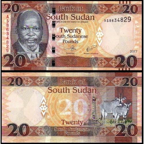 SOUTH SUDAN 20 Pounds 2017
