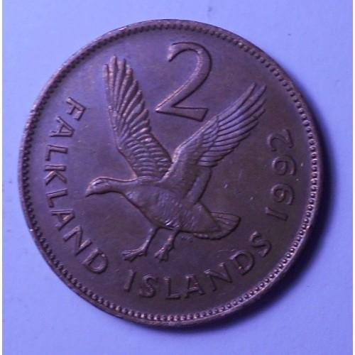 FALKLAND ISLANDS 2 Pence 1992