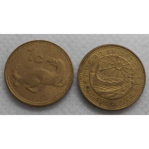 MALTA 1 Cent 1986