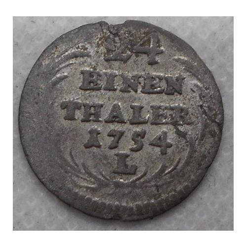 SAXONY 1/24 Thaler 1754...