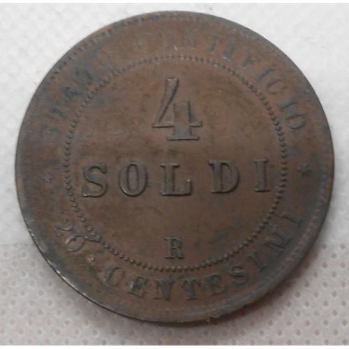 PIO IX 4 Soldi 1866 A.XXI