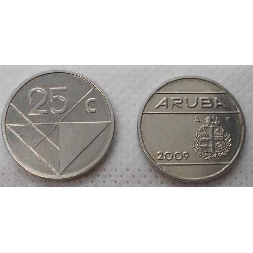 ARUBA 25 Cents 2009