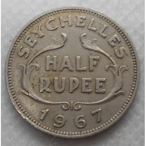 SEYCHELLES 1/2 Rupee 1967