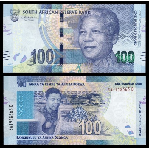 SOUTH AFRICA 100 Rand 2018...