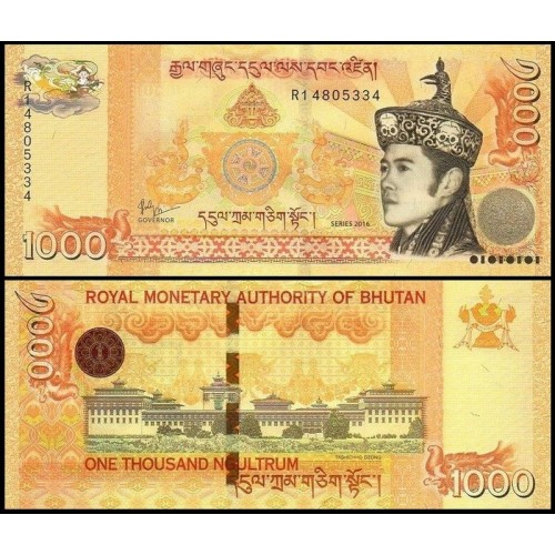 BHUTAN 1000 Ngultrum 2016