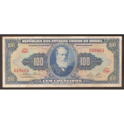 BRAZIL 100 Cruzeiros 1955