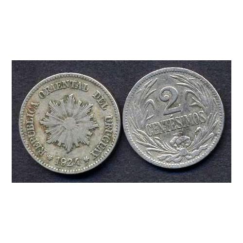 URUGUAY 2 Centesimos 1924