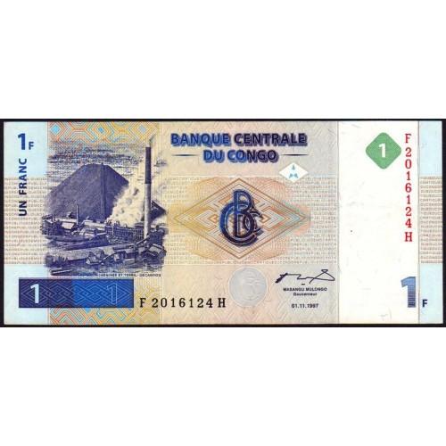 CONGO DEMOCRATIC 1 Franc 1997