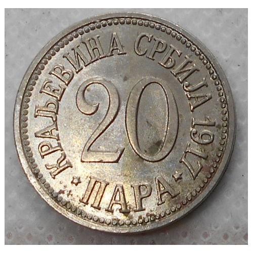 SERBIA 20 Para 1917