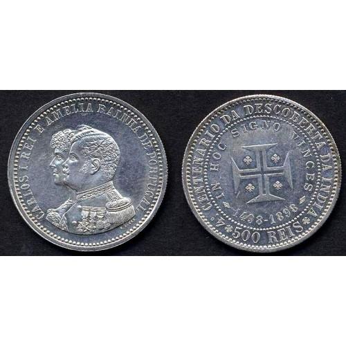 PORTUGAL 500 Reis 1898...