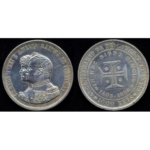 PORTUGAL 1000 Reis 1898...