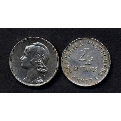 PORTUGAL 4 Centavos 1917