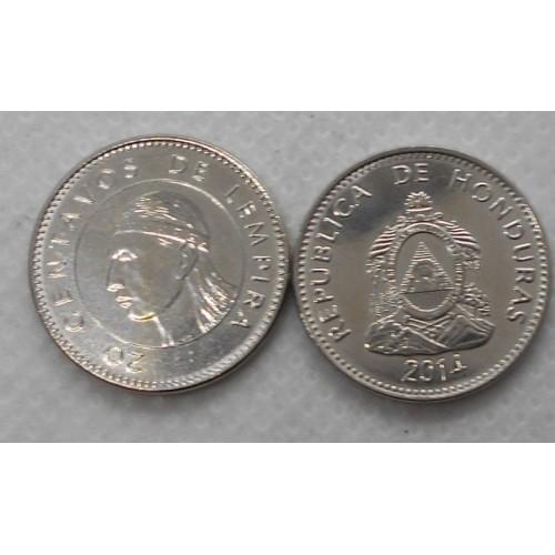 HONDURAS 20 Centavos 2014