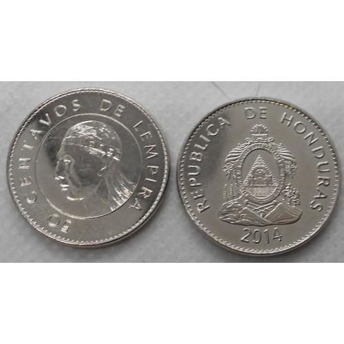 HONDURAS 50 Centavos 2014