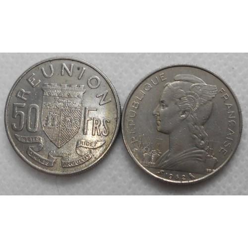 REUNION 50 Francs 1962
