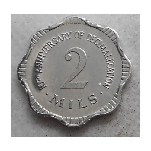 MALTA 2 Mils 1982 10th...