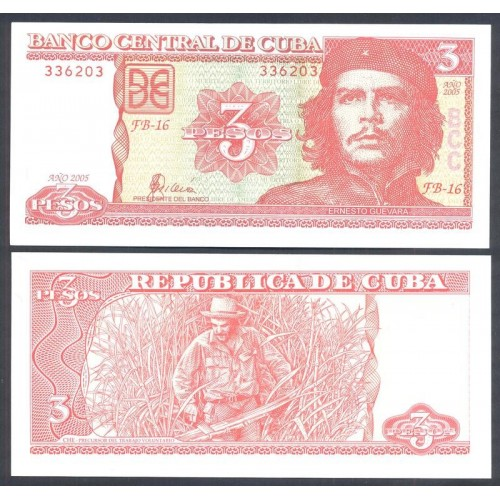 CUBA 3 Pesos 2005
