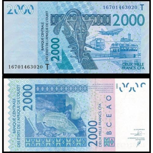 TOGO (W. A. S.) 2000 Francs...