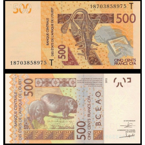 TOGO (W.A.S.) 500 Francs 2018