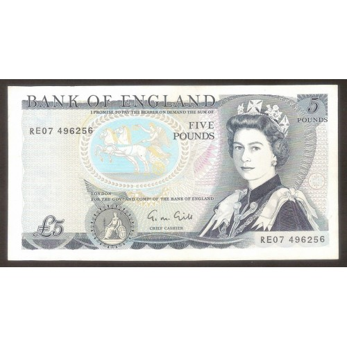 GREAT BRITAIN 5 Pounds 1991