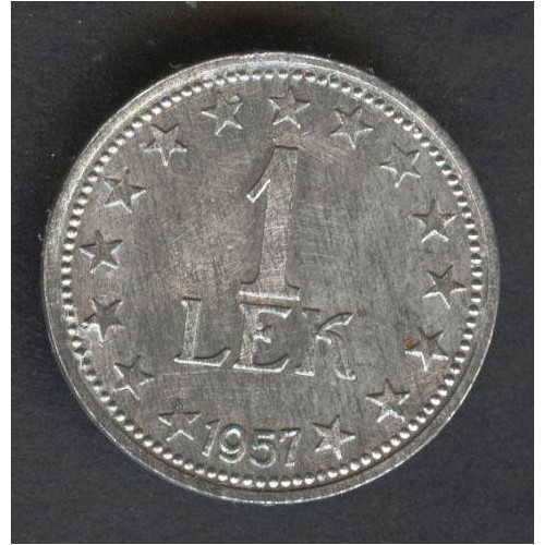 ALBANIA 1 Lek 1957
