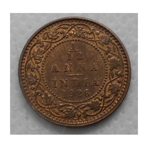 BRITISH INDIA 1/12 Anna 1926 C