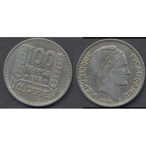 ALGERIA 100 Francs 1952