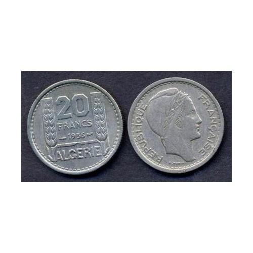 ALGERIA 20 Francs 1956