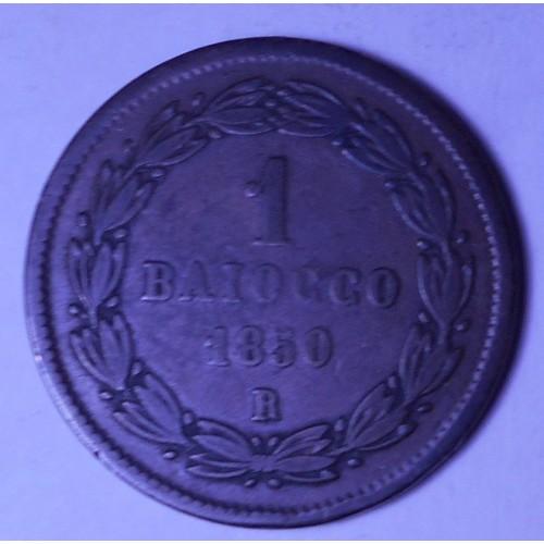 PIO IX 1 Baiocco 1850 R ANNO V