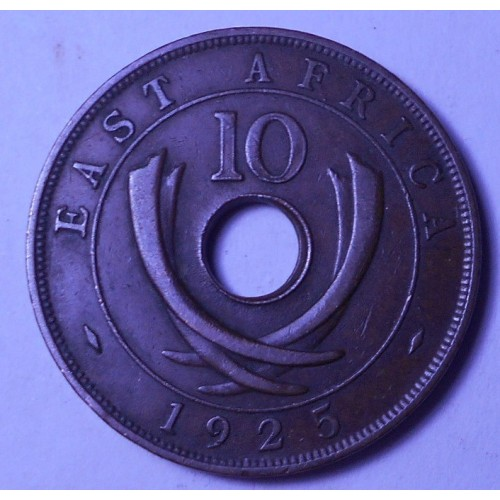 EAST AFRICA 10 Cents 1925...