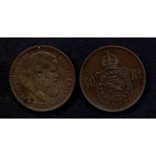 BRAZIL 40 Reis 1873