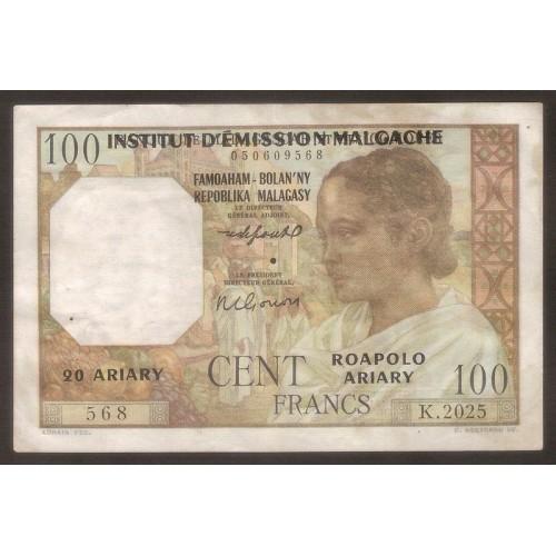 MADAGASCAR 100 Francs 1961