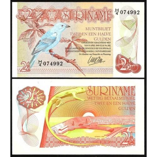 SURINAME 2 1/2 Gulden 1985